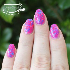 Pink Splatter in natural indirect light