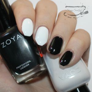 Base mani using Zoya's Willa and Purity. Hello clearance sticker!