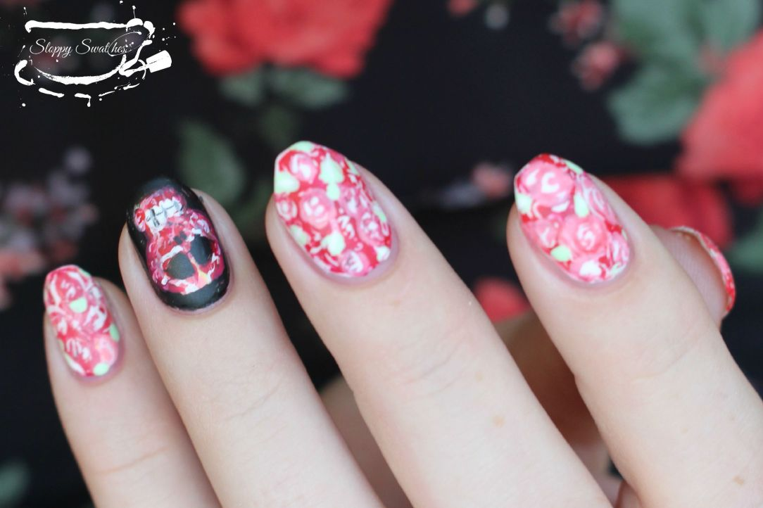 Rose Tutorial Nail Art And Swatches