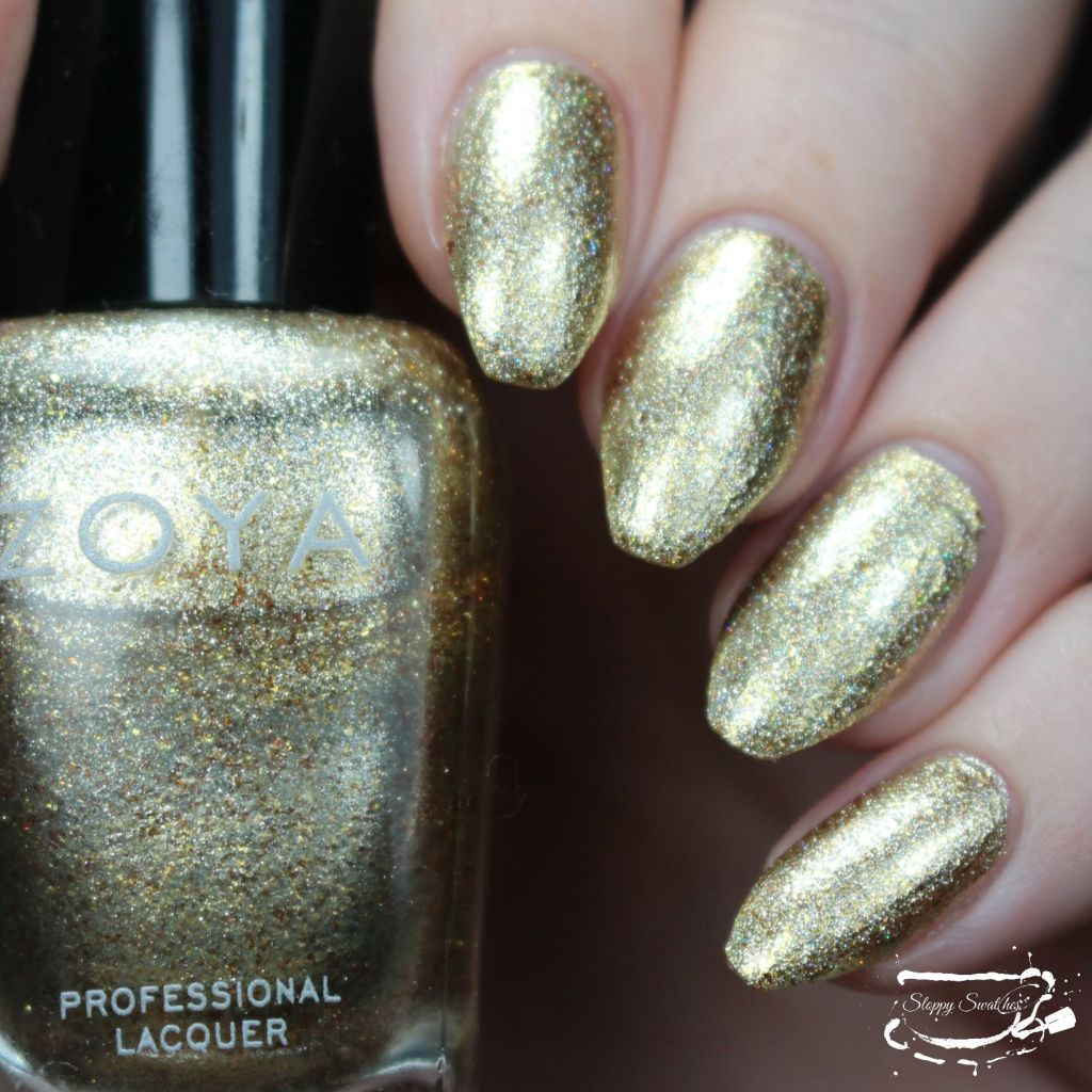 Zoya Ziv topped with Fairy Dust by China Glaze