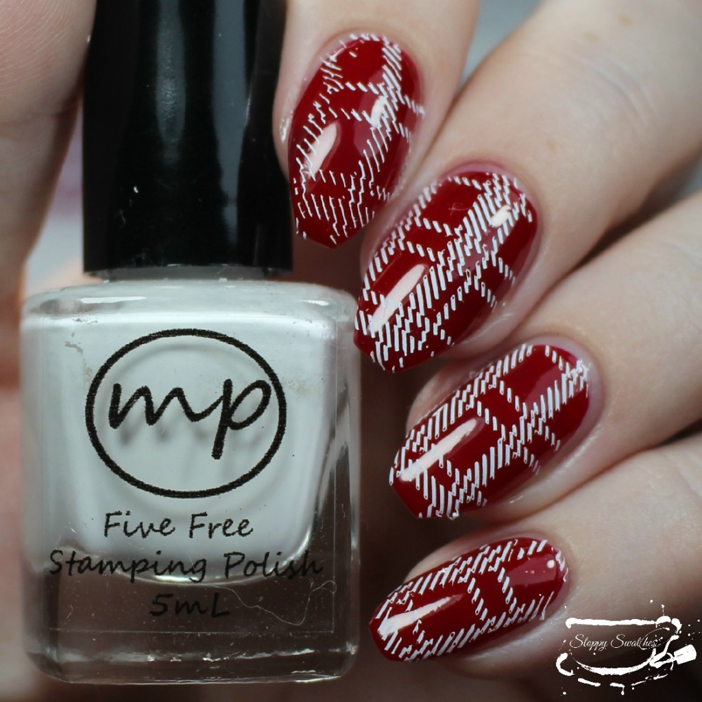 M Polish Pekin plaid stamp
