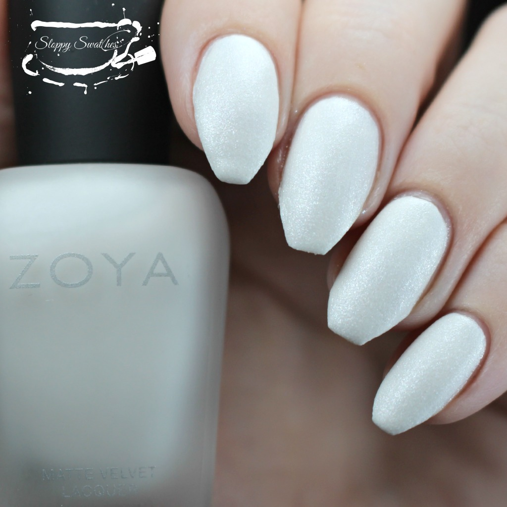 Zoya Aspen matte at 3 coats