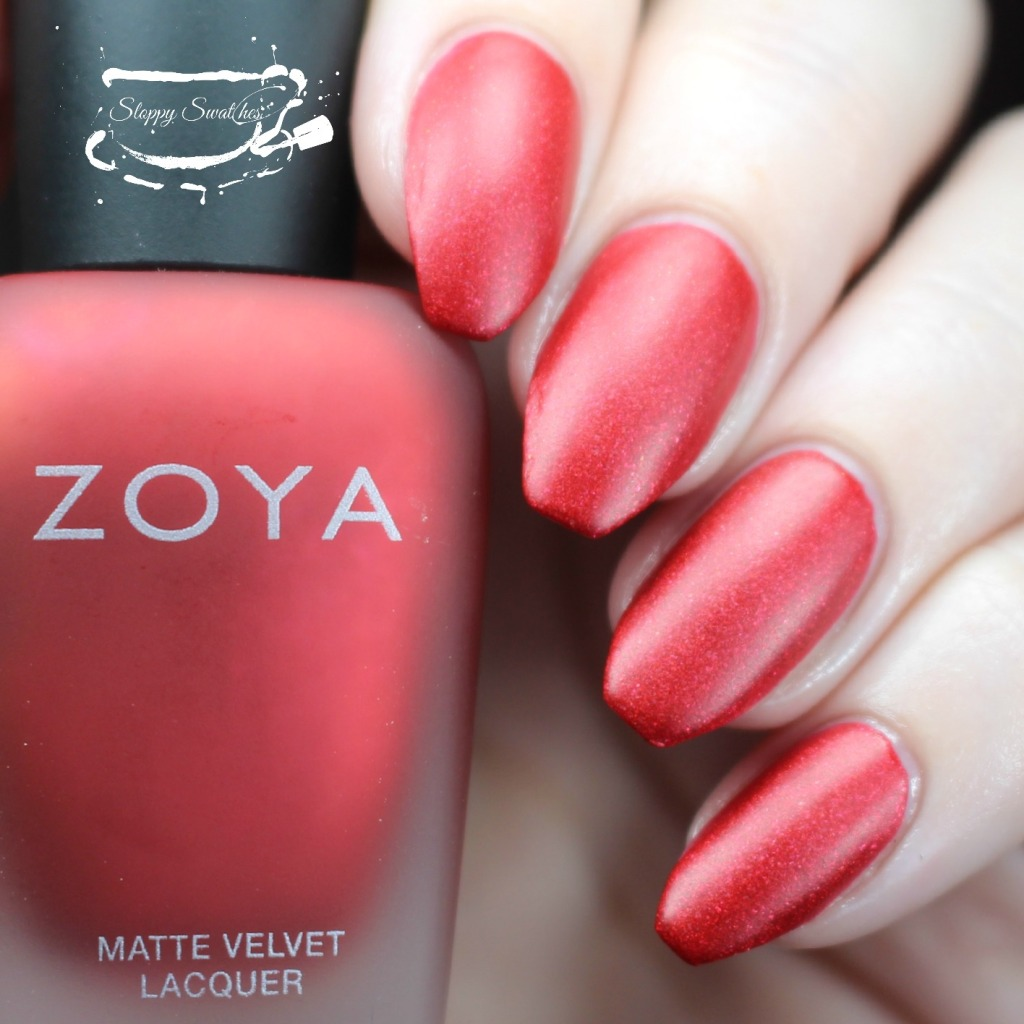 Zoya Amal matte at 2 coats