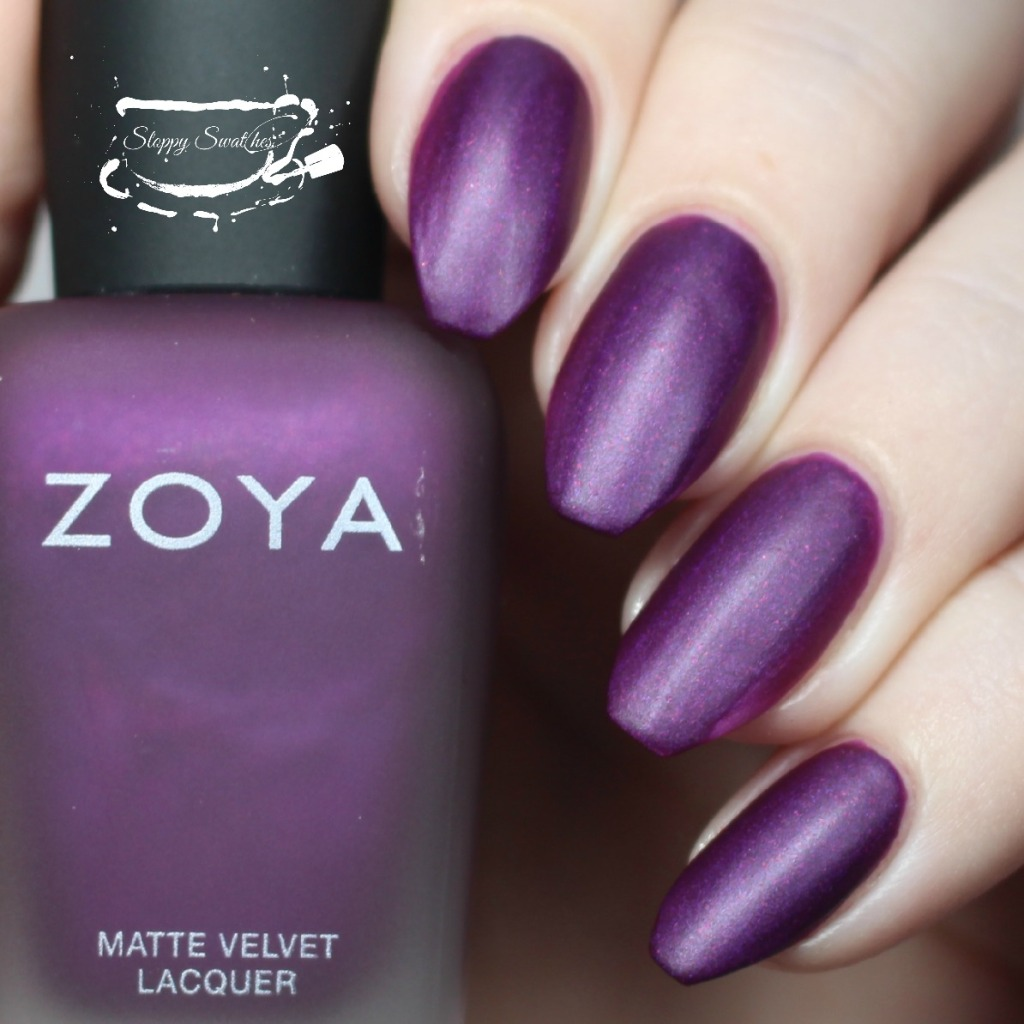 Zoya Iris matte at 2 coats