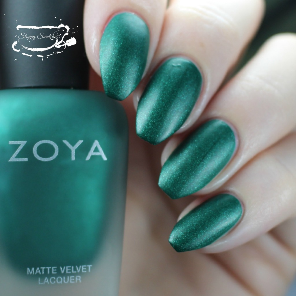 Zoya Honor matte at 2 coats