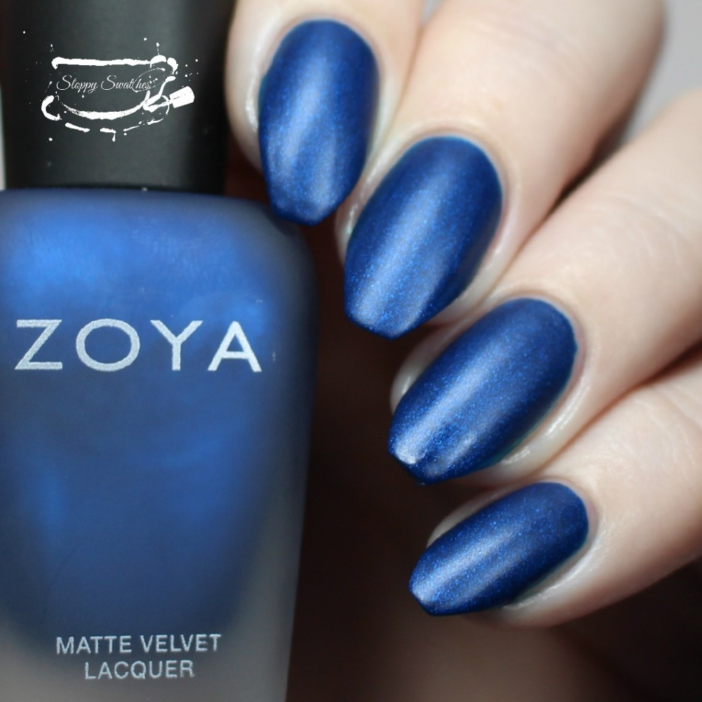 Zoya Yves matte at 2 coats