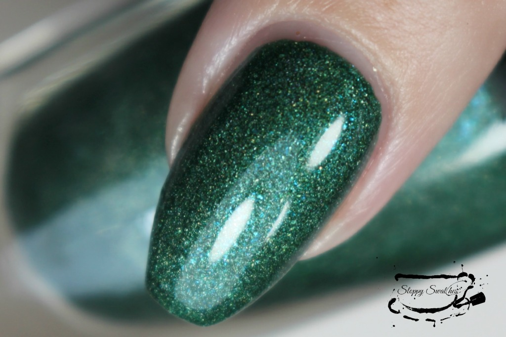 Mo' Money macro at 2 coats plus topcoat under artificial lighting