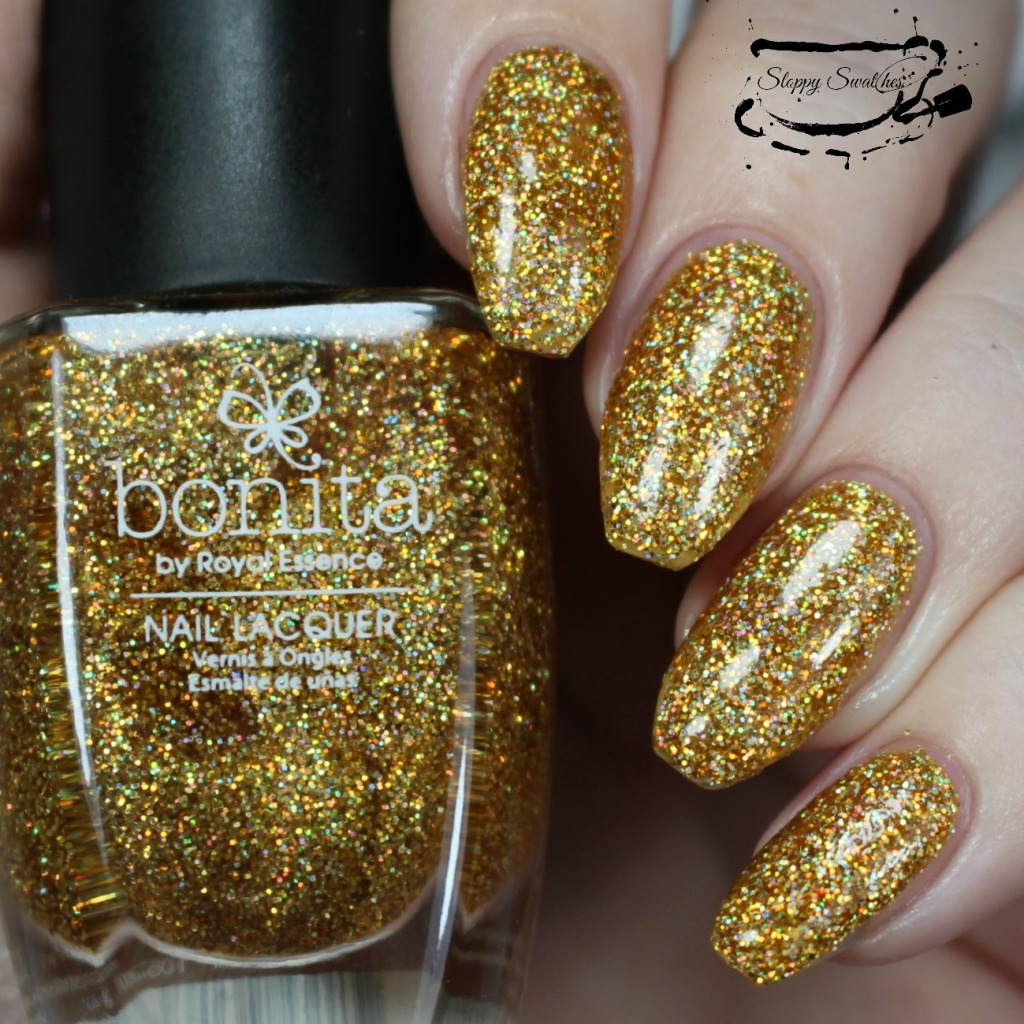 Golden Girl at 3 coats plus topcoat under artificial lighting