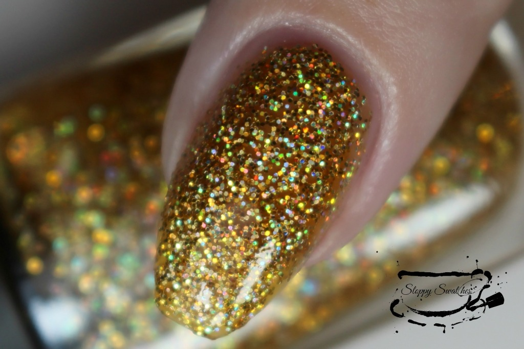 Golden Girl macro at 3 coats plus topcoat under artificial lighting