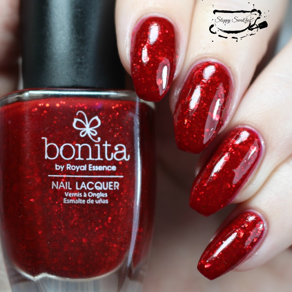 You're My Lobster at 3 coats plus topcoat under artificial lighting