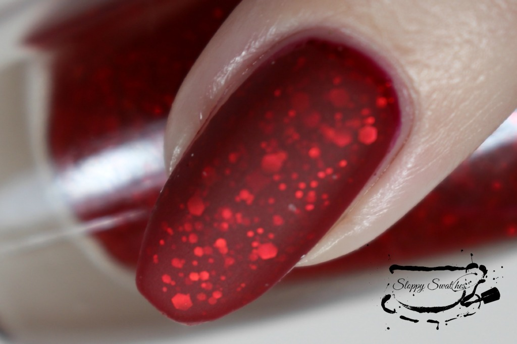 You're My Lobster matte macro at 3 coats plus topcoat under artificial lighting