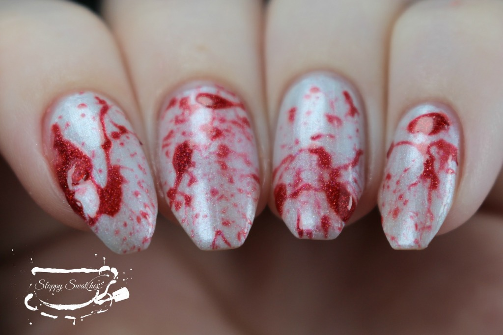 Blood splatter mani