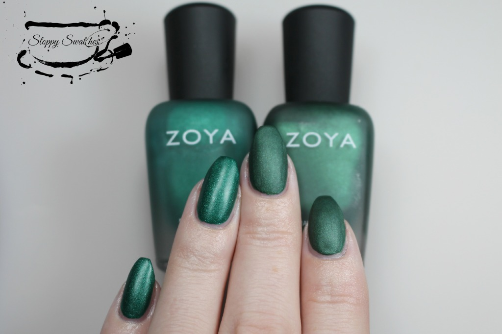 From L to R: Honor, Veruschka matte at 2 coats