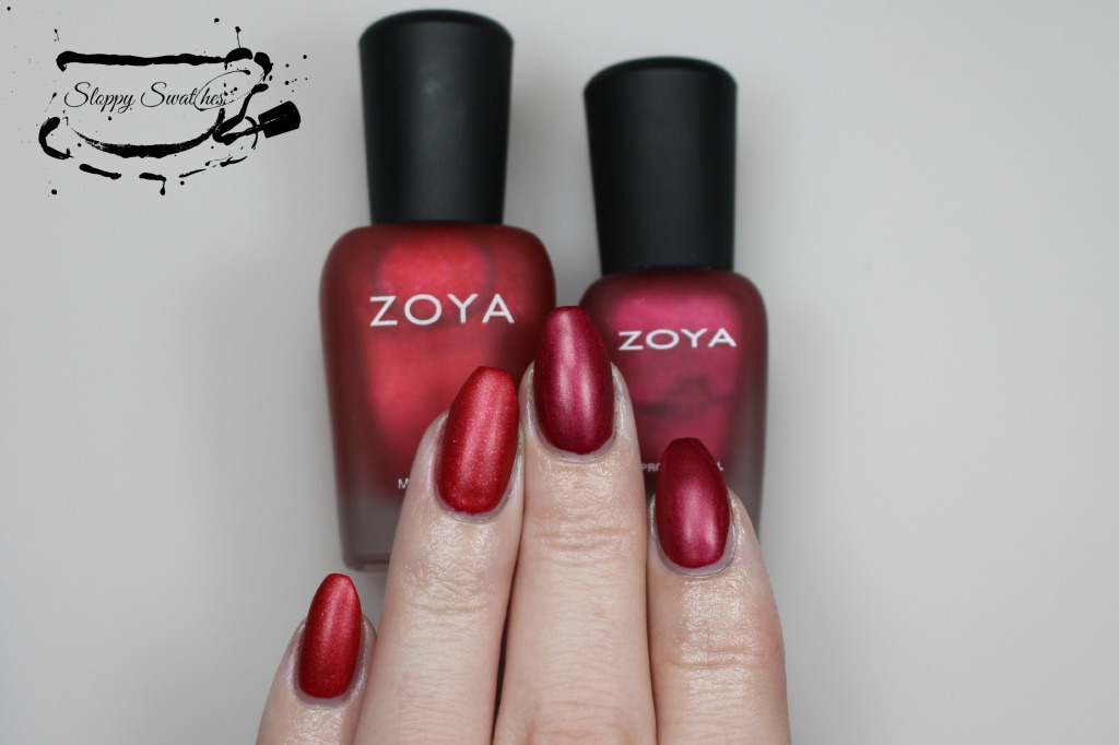 From L to R: Amal, Posh matte at 2 coats