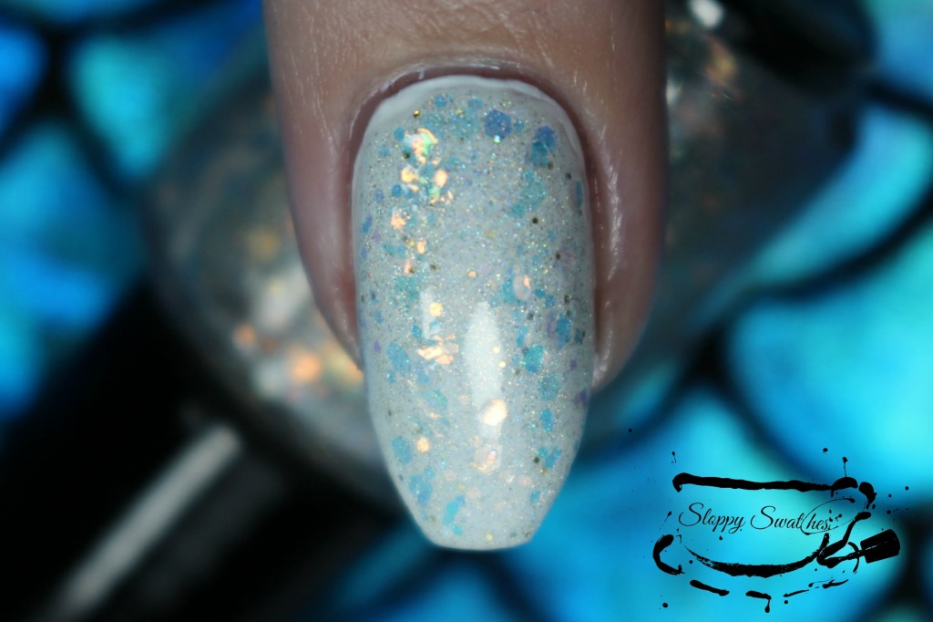 Mermaid Treasure at 2 coats over Zoya Purity macro