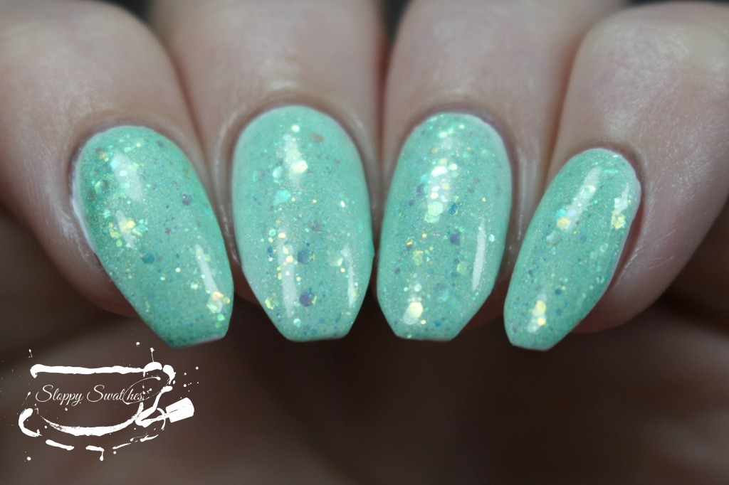 Mermaid Tail at 2 coats over Zoya Purity