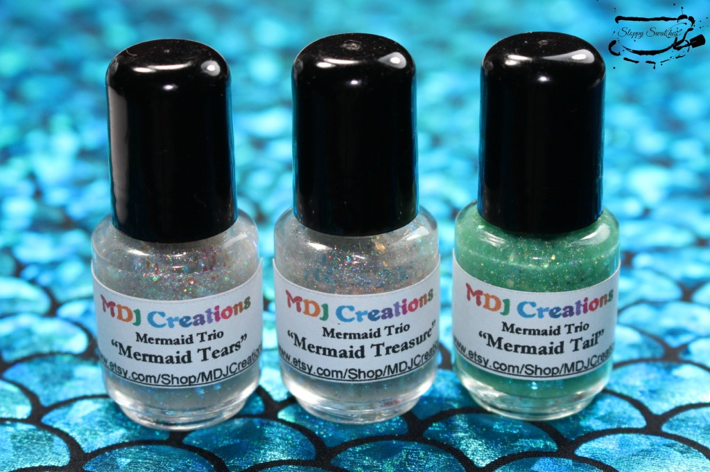 Mermaid trio by MDJ Creations from L to R: Mermaid Tears, Mermaid Treasure, Mermaid Tail