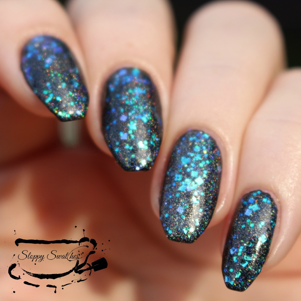 Mermaid Tears at 1 coat over Zoya Willa in direct sunlight
