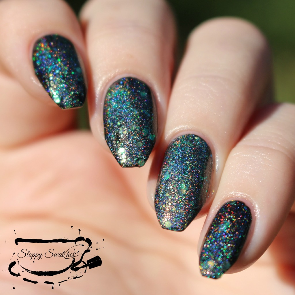 Mermaid Tail at 1 coat over Zoya Willa in direct sunlight