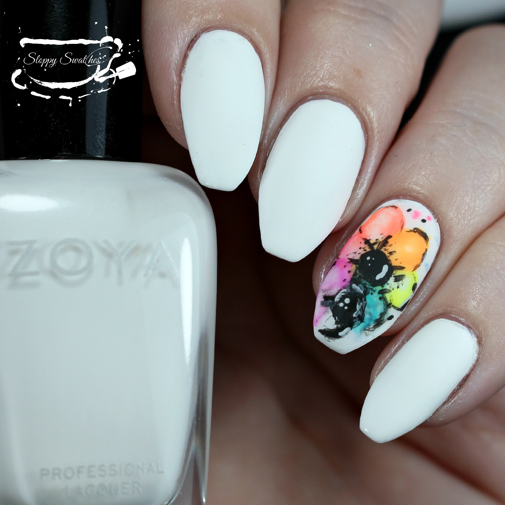 Nailart Flowers For Skepti Depression Awareness Nails Nail Art And Swatches