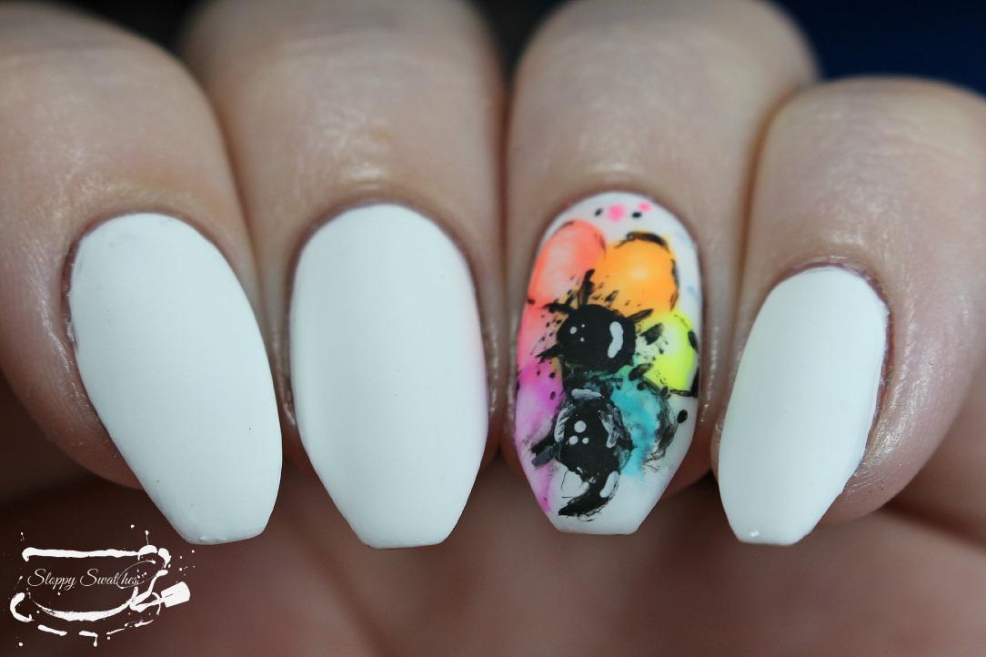 Nailart Flowers For Skepti Depression Awareness Nails Nail Art
