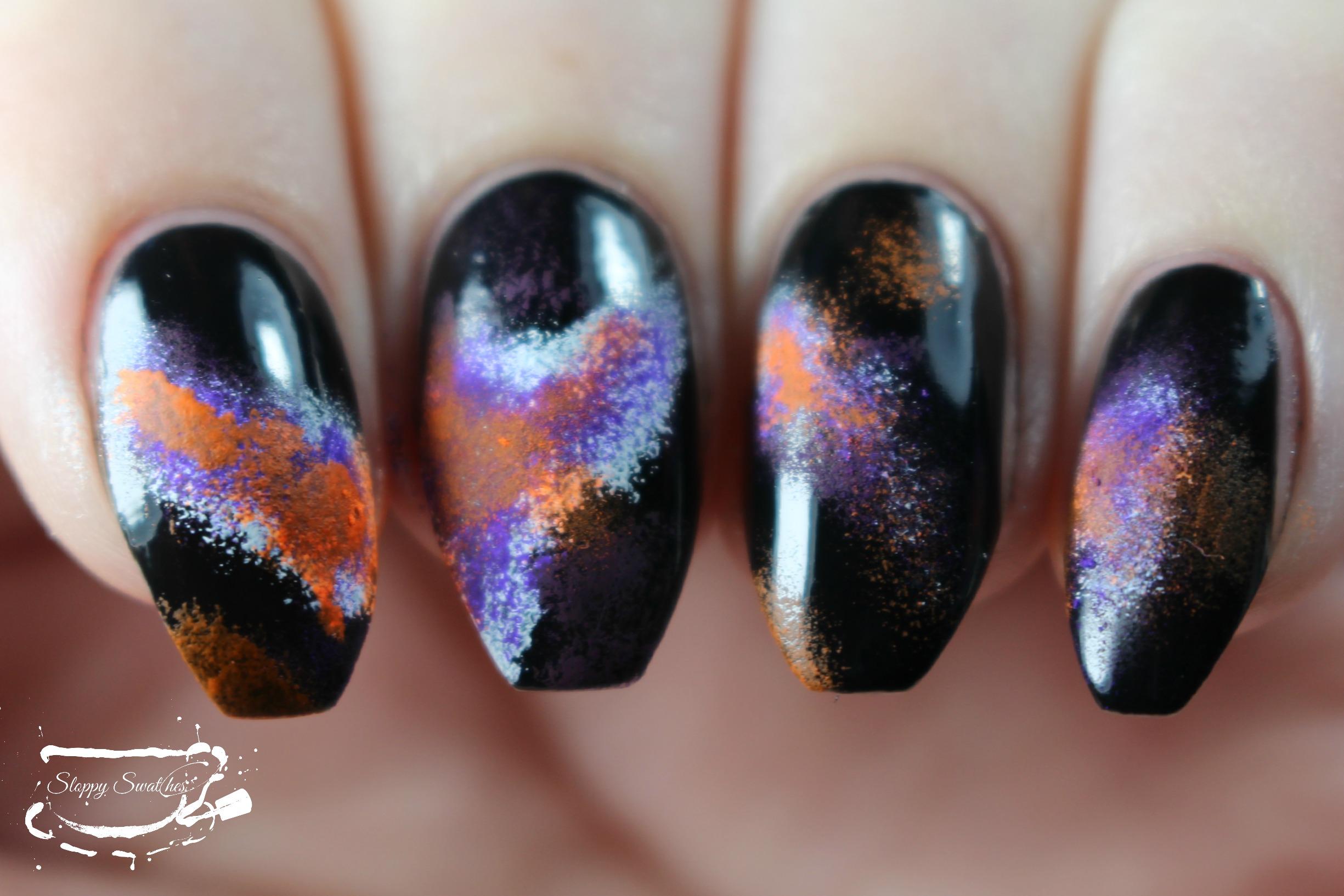 Nailart | WNAC2015 Halloween Galaxy Nails – Nail art and Swatches