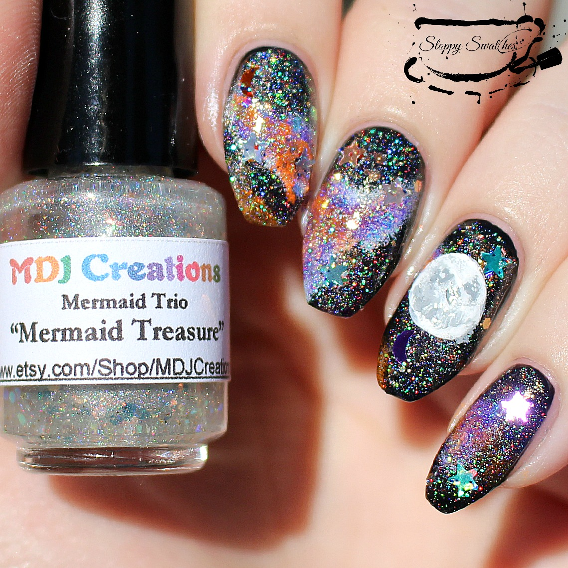 Nailart | WNAC2015 Halloween Galaxy Nails – Nail art and Swatches