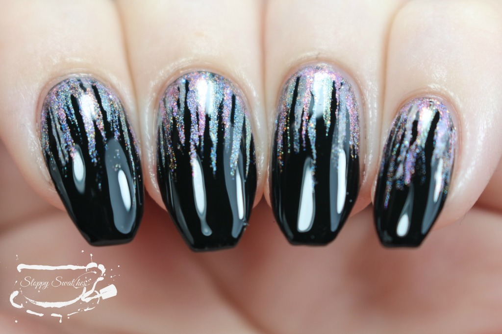 Waterfall mani under artificial lighting