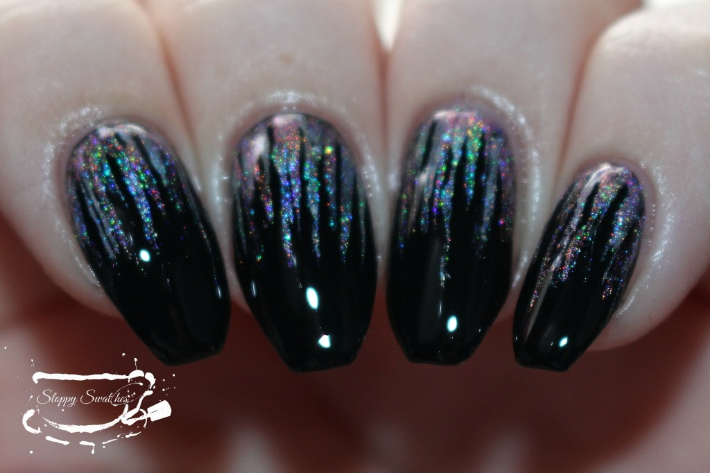 Waterfall mani with flash