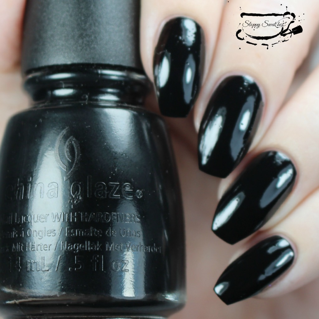 China Glaze Liquid Leather at 1 coat no topcoat