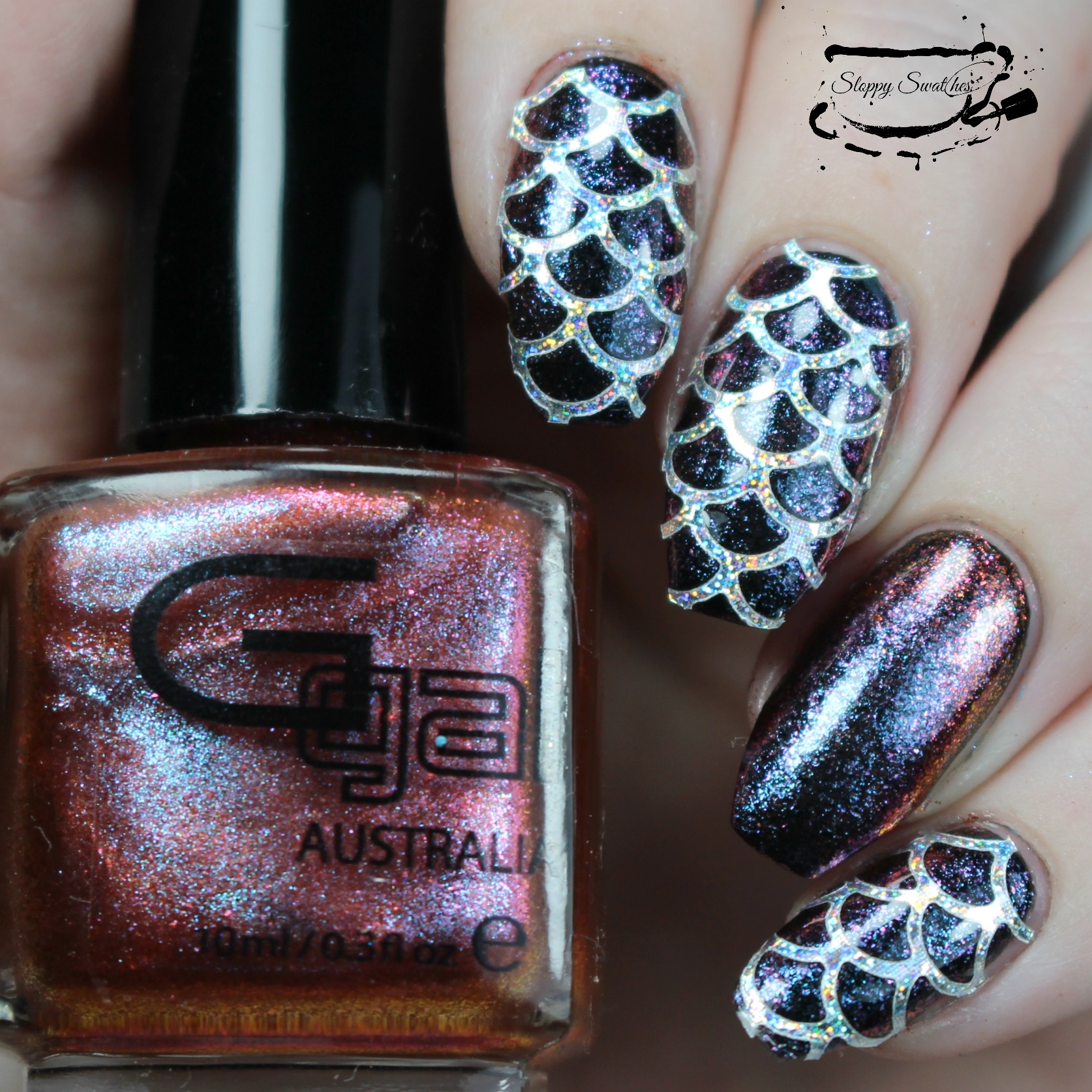 Nailart Mermaid Nails Ft Easy Peel From Nail Experiments Nail Art And Swatches