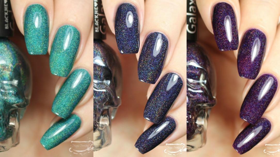 Swatches | Holographic Black Heart Beauty Nail Polishes – Nail art ...