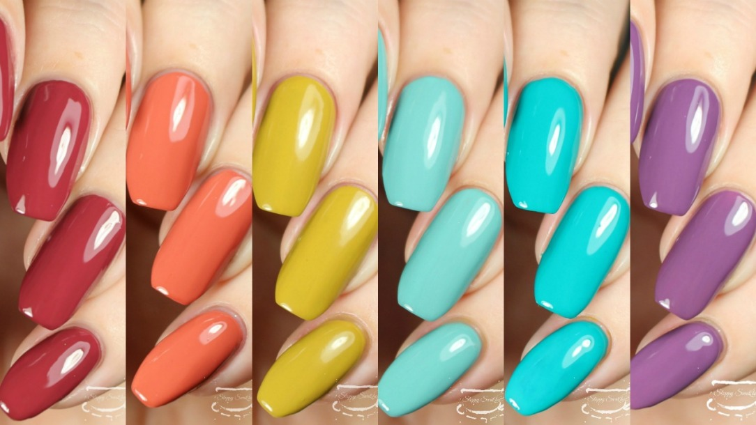 Swatches | The NINETIES Collection by Virago Varnish – Nail art and ...